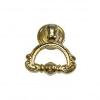 Ручка-кольцо металл, мод. 9058-05, жёлтый