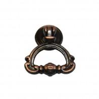Ручка-кольцо металл, мод. 9058-09, окись меди