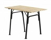 Стол «Трапеза», металлический каркас, черн.  без бруса
