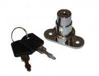Замок кнопочный для раздвижных дверей ДСП мод.105 (хром)