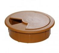 Заглушка для столов кабельная (светло-коричневая) d-60мм