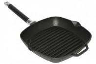 Сковорода-гриль 28х28 см. чугун, съемная ручка.