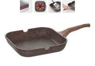 Сковорода-гриль с антипригарным покрытием, 28х28 см, NADOBA, серия GRETA