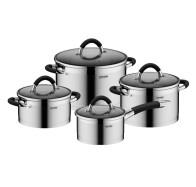 Набор посуды со стеклянными крышками, 8 пр, NADOBA, серия OLINA