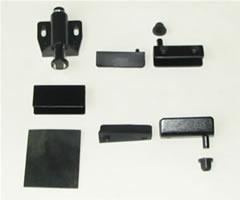 Фурнитура для стекла мод. 202-1, на 1 дверь,черная