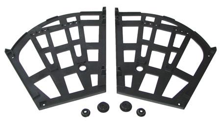Механизм для обувниц трехсекционный, с втулками, черный