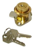 Замок мебельный мод.031 (золото) с ответной планкой