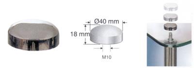 Заглушка 40 BL KR (хром.блест.)