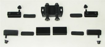 Фурнитура для стекла мод. 203-1, на 2 двери,черная