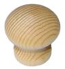 Ручка-кнопка деревянная, мод. 35-38, без покрытия
