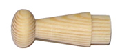 Крючок деревянный, мод.13-43, без покрытия