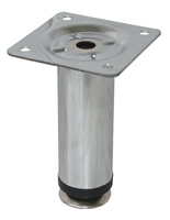 Ножка металлическая d-30 мм., Н 100-120 мм, хром блестящий