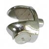 Полкодержатель для стекла мод.08.073/СР, штырь 5х7мм, никель (овальный)